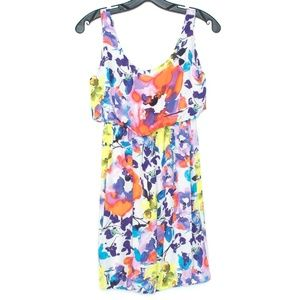 Alice + Olivia Dress Silk Blouson Floral Small H2